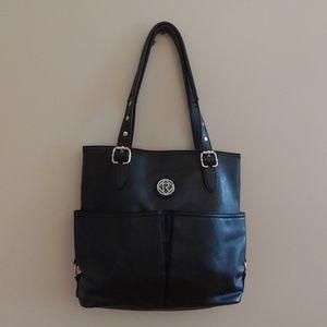 Relic by Fossil Black Biker Leather Shoulder Bag